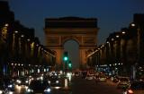 Champs Elysées and the Arc de Triomphe