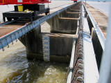 River Gauge on Spillway Structure - May 8, 2008 - 1:45 p.m.