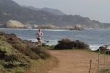 Andrea running Pt. Lobos