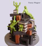 Angriff auf die Wotrubakirche, Skulptur von Fanny Wagner