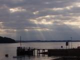 Sun going down on Strangford Lough