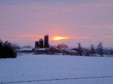 Silos at Sunset