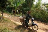 Durian farmer in habitat