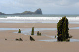 Wreck of the Helvetia (1887) at Rhossili Bay