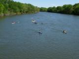 17 boats approaching Euclid bridge