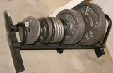 Northern Lights Power Rack and Olympic Weight Set