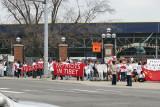 Chinese Protest Outside Dalai Lama Speech in Ann Arbor, Michigan