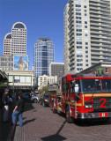 Billboard And Fire Truck