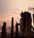 Buddha images at dusk