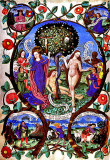 Tree of Death and Life from the Archbishop of Salzburg's missal,1481