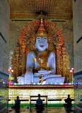 The Buddha being worshiped
