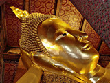 Image of the Reclining Buddha, close up