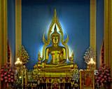 Main Buddha image of the temple