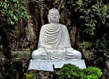 Buddha image in white
