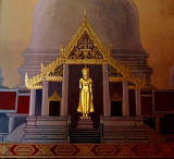 Fresco of the Buddha in a temple