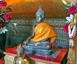 Small enrobed Buddha image
