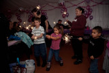 Sparklers at birthday party 2009 December 16th