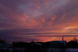 Post sunset sky over Gardiner Road