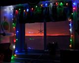 Presunrise sky through kitchen window 2009 December 25