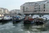 Port-Cergy et l'Oise pris par les glaces en janvier 2009