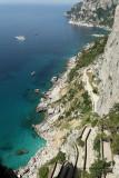 Du village de Capri à Marina Piccola par la via Kruppe & visite de la villa Jovis