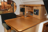 A bord du Nautitech 44, du chantier Nautitech Catamarans