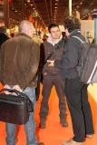 Au centre, Franck Cammas vainqueur avec Steve Ravussin de la Transat Jacques Vabre 2007