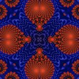 Blue  Red 3D kaleidoscope