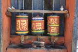 Jampa Lhakhang prayer wheels