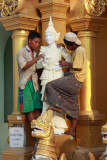Cleaning statues