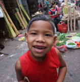 Curious market boy