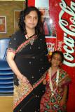 Ma with Uma in Sambalpuri Costume.