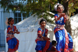Open air performance at the India Festival at the Crow Museum of Modern Art in Dallas.