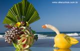 escultura feita na própria fruta - Brazilian Fruit Tropical Sculpture 8756