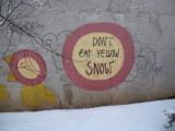 Vilnius graffiti good advice