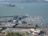 Fisherman's Wharf and Alcatraz from Coit Tower