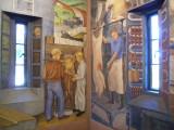 San Francisco mural inside Coit Tower