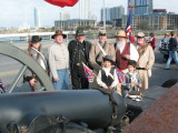 With the cannon