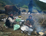 Gujjars breakfasting