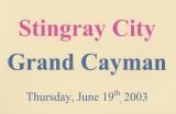 2003 - Caribbean Cruise 5 - Stingray City, Grand Cayman