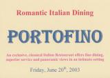 2003 - Caribbean Cruise 7 - Portofino, Romantic Italian Dining