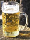 im Biergarten: eine Mass Bier / in the beergarden: a litre beer