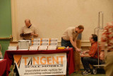 Chad Hewett & Dave Lehlbach man the Tangent Scale Models table
