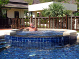 Gunnar in the Jacuzzi