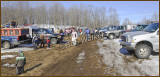 West Camden Country Store Sled Dog Race's Stagging Area