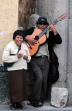 IMG_3297 Blind Street Busker sings in Arequipa - one of the sweetest voices I've ever heard. Feb 18