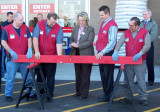 Lowe's Grand Opening Board Sawing