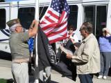 Senior Center Raises New Flags