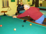 Shootin Pool at the Sr. Center