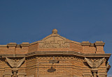 Detail of the Bank Bldg showing brickwork and eagles.